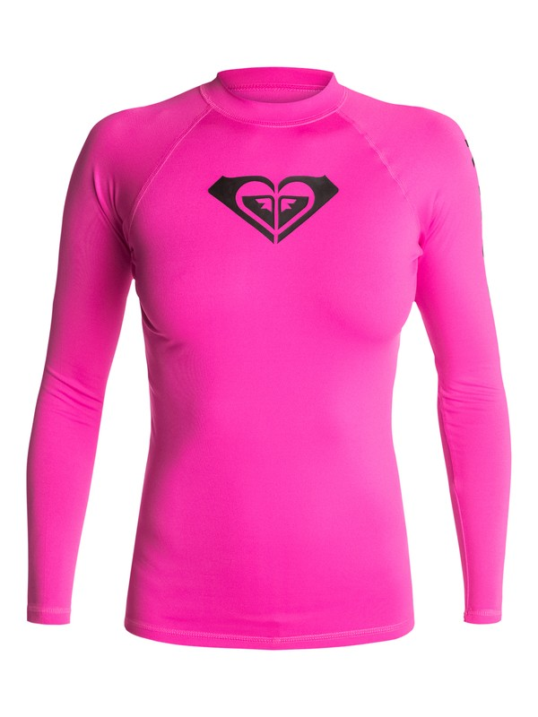 0 Whole Hearted - Long Sleeve Rash Vest Pink ARJWR03035 Roxy