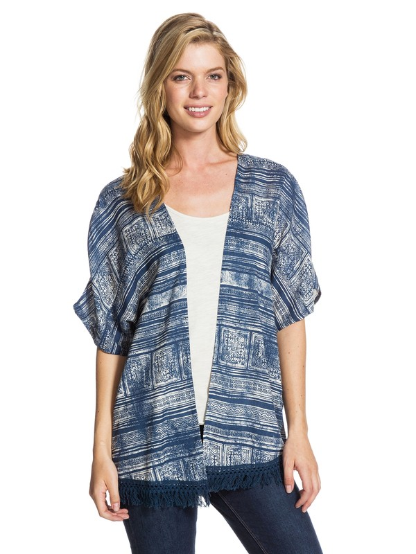 0 Western Rose Top Blue ARJWT03035 Roxy
