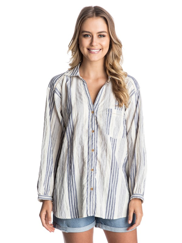 0 Case Of You Oversided Button Down Collared Shirt  ARJWT03057 Roxy