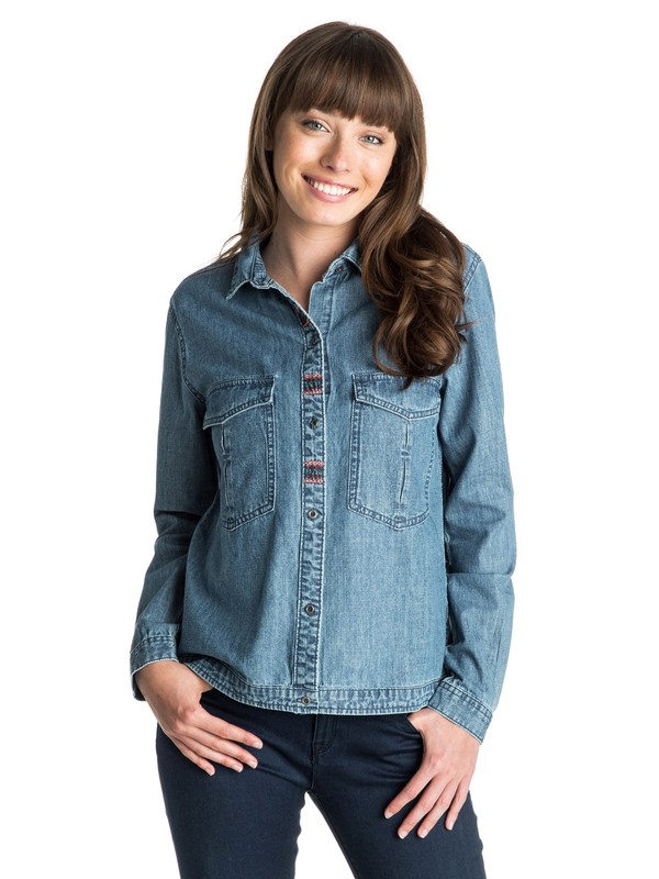 0 Fair View Long Sleeve Denim Shirt  ARJWT03075 Roxy