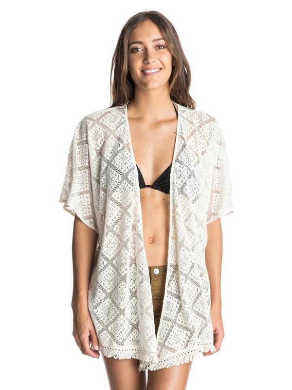 0 Canyons Crochet Open Front Kimono Top  ARJWT03092 Roxy