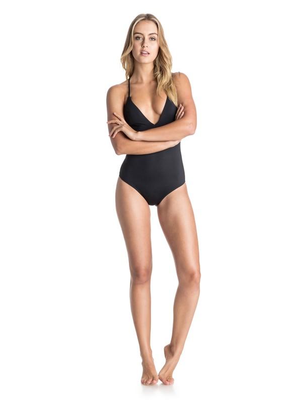 0 Wrapsody Deep V One Piece Swimsuit  ARJX103026 Roxy
