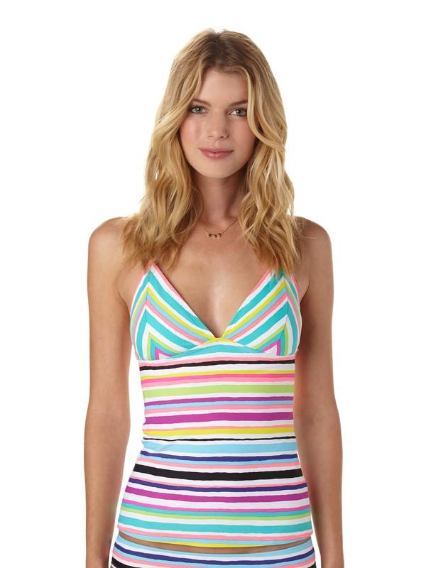 0 Sun Kissed Tiki Tri Tankini Bikini Top  ARJX300088 Roxy