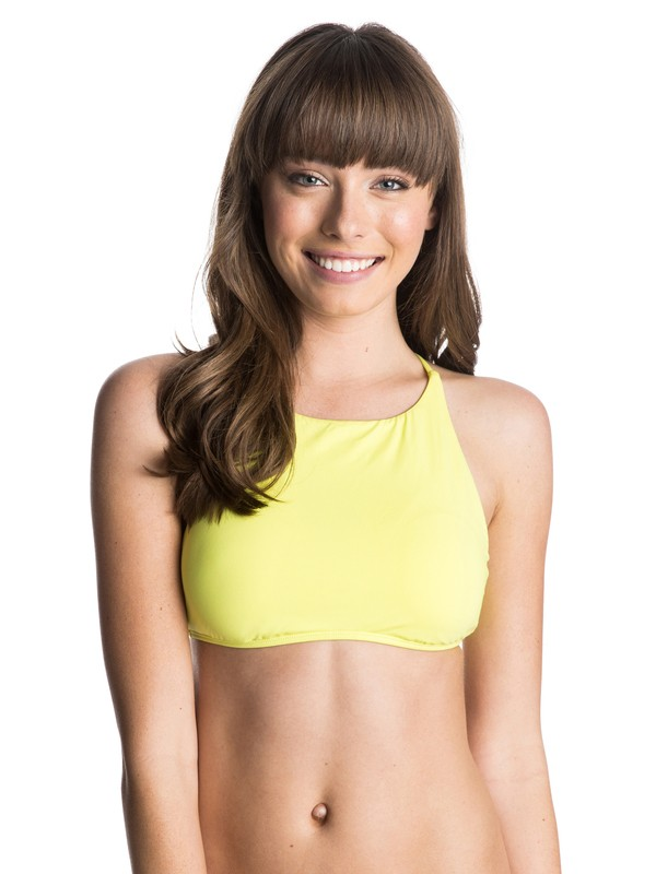 0 Girls Just Wanna Have Fun Crop Halter Bikini  Top  ARJX303073 Roxy