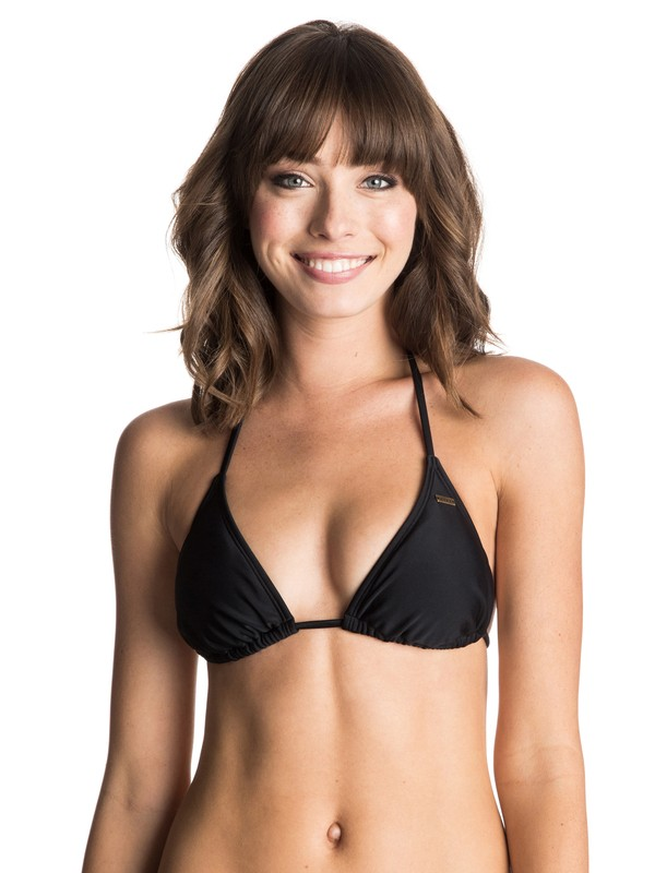 0 Surf Essentials Tiki Tri Bikini Top  ARJX303080 Roxy