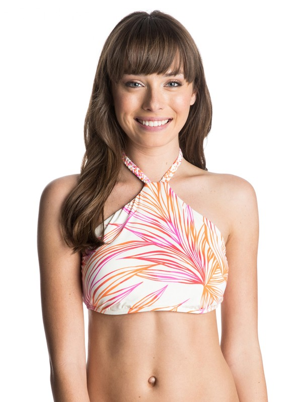 0 Hearts Of Palm Crop Bikini Top  ARJX303106 Roxy
