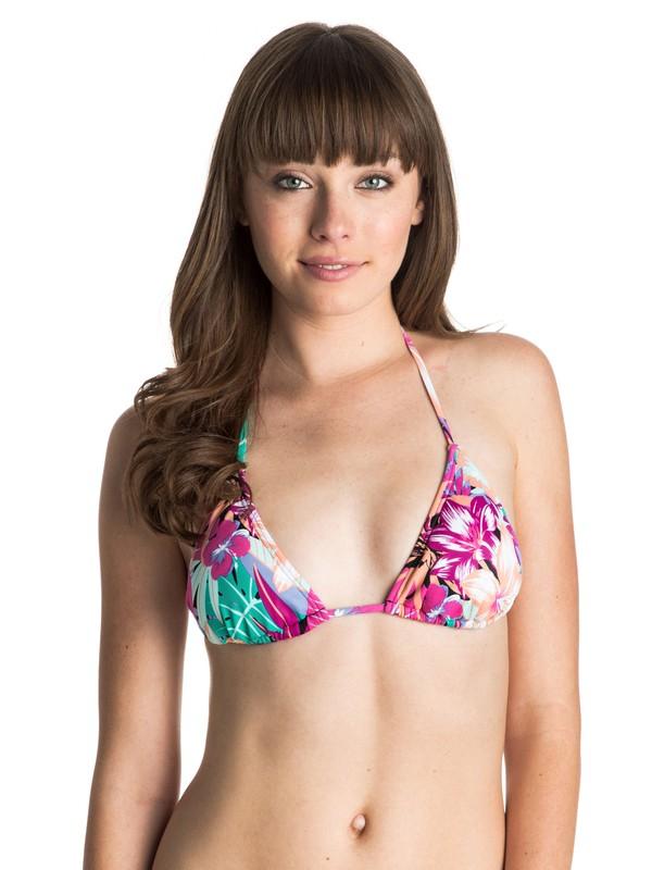 0 Garden Party Tiki Triangle Bikini Top  ARJX303184 Roxy
