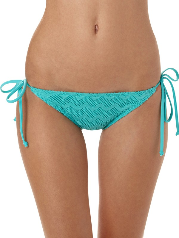 0 Making Waves Brazilian String Bikini Bottoms  ARJX400014 Roxy