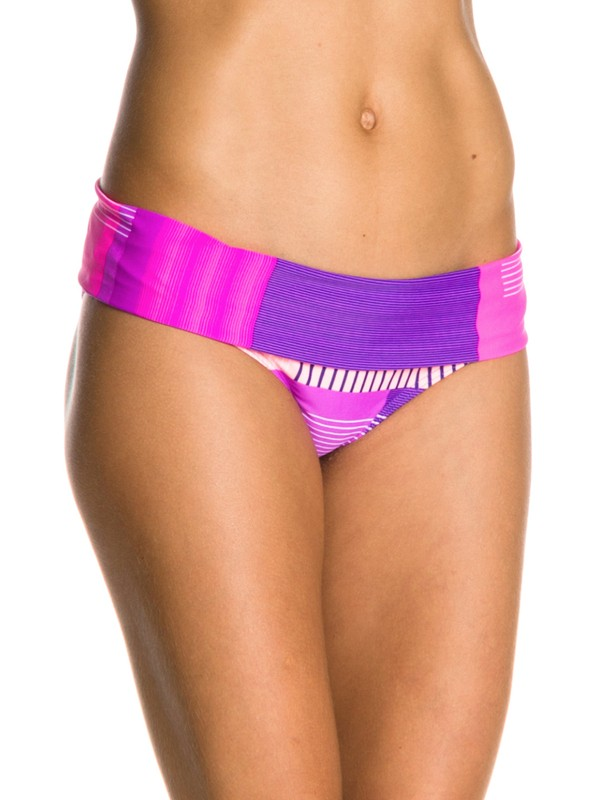 0 Sunshine Daze Foldover Boy Short Bikini Bottoms  ARJX400038 Roxy