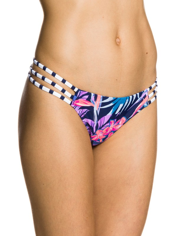 0 Tropical Daydream Reversible Strappy Mini Swim Bottom  ARJX403032 Roxy