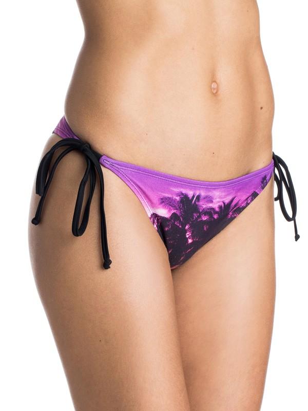 0 Midnight Swim Mini Tie Side Bikini Bottoms  ARJX403139 Roxy