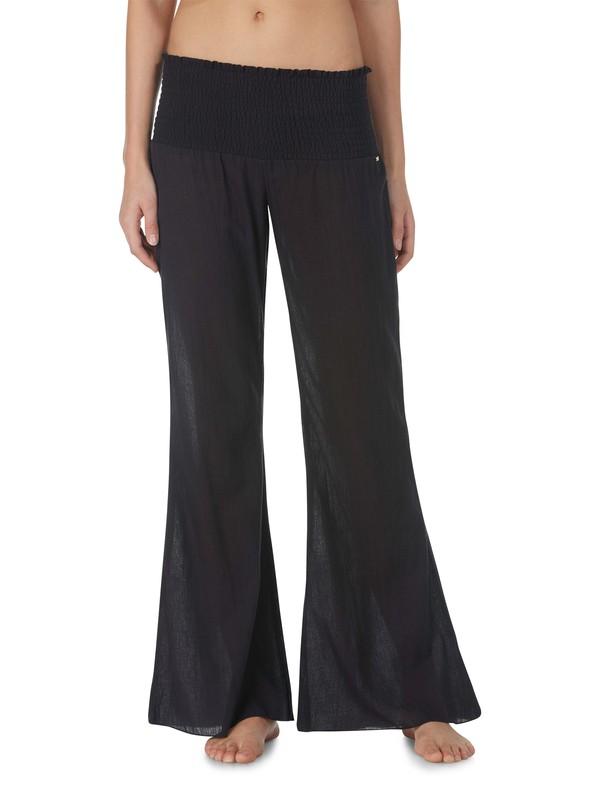 0 Guaze Bell Bottom Pants Black ARJX600026 Roxy