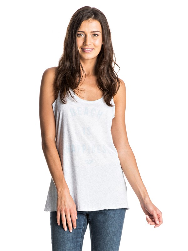 0 Happy Beach Racerback  Tank White ARJZT03983 Roxy