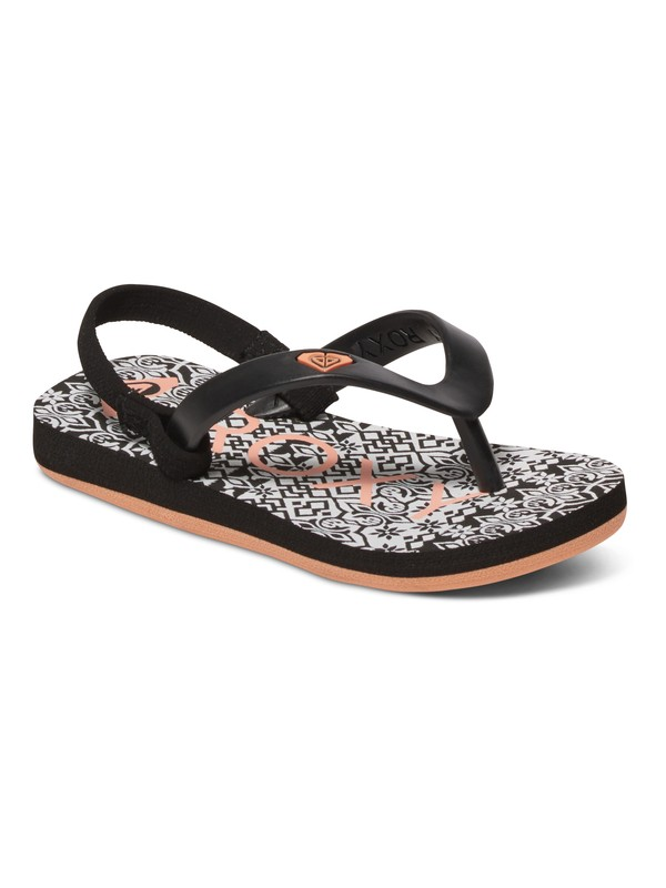 0 Girls 2-6 Tahiti Flip Flops Black ARLL100015 Roxy