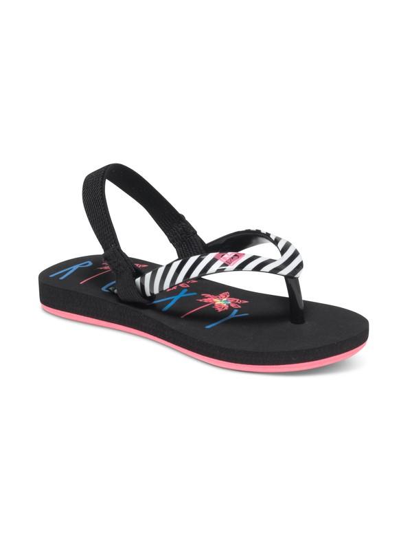 0 Girls 2-6 Pebbles Flip Flops Black ARLL100016 Roxy