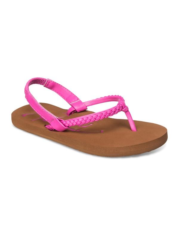 0 Girls 2-6 Cabo Flip Flops Pink ARLL100039 Roxy
