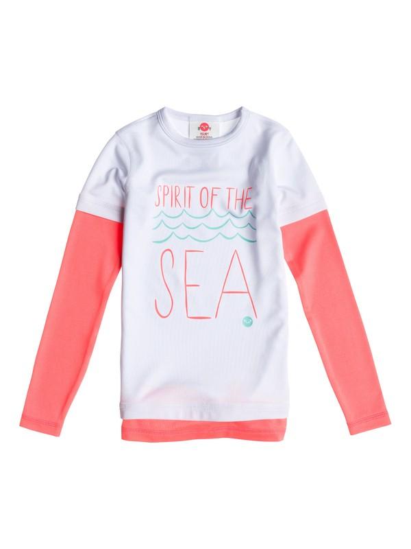 0 Girls 2-6 Sea & Sunshine LS Rashguard  ARLWR03000 Roxy