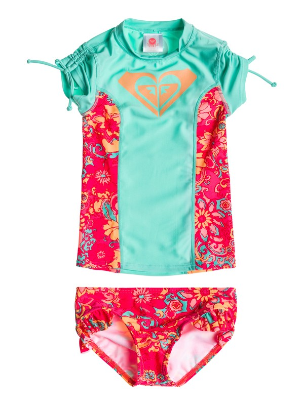 0 Girls 2-6 Beach Bound Rashguard  ARLWR03002 Roxy