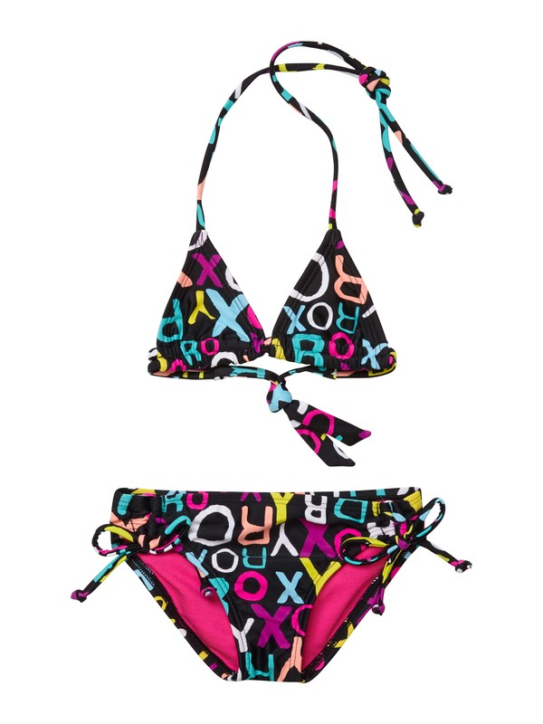 0 Girls 2-6 Roxy Border Tiki Tri Set Swimsuit  ARLX200004 Roxy