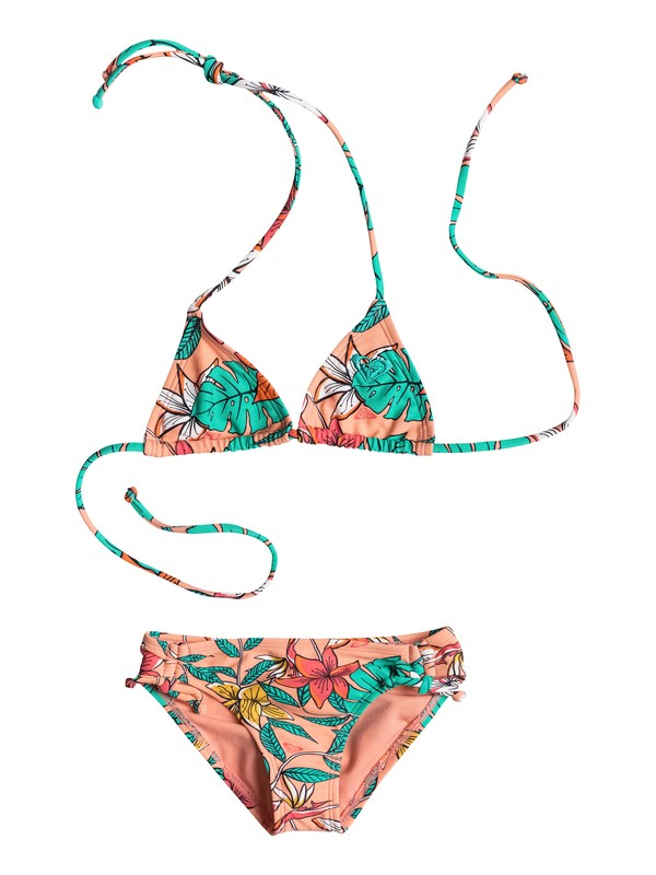 0 Base Shirred Ties - Tiki Triangle Bikini  ARLX203024 Roxy