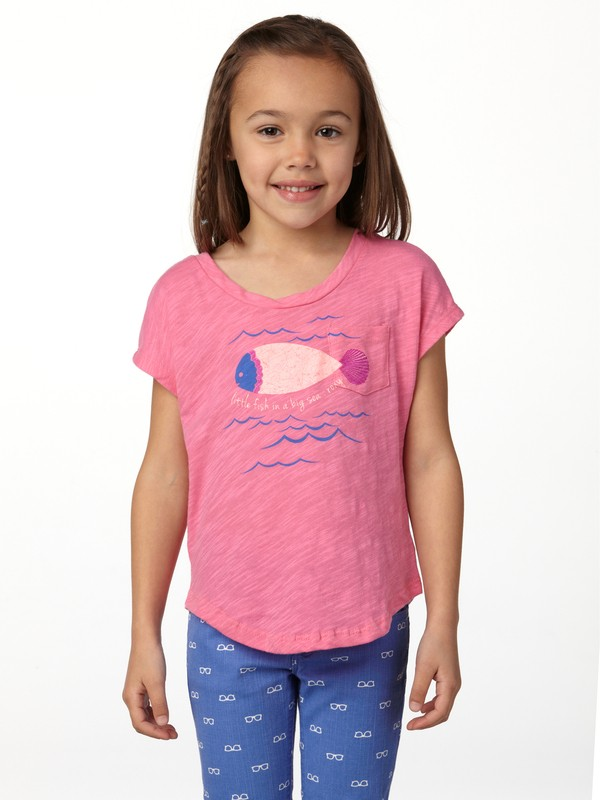 0 Girls 2-6 Little Fish Tie Back Tee  ARLZT00120 Roxy
