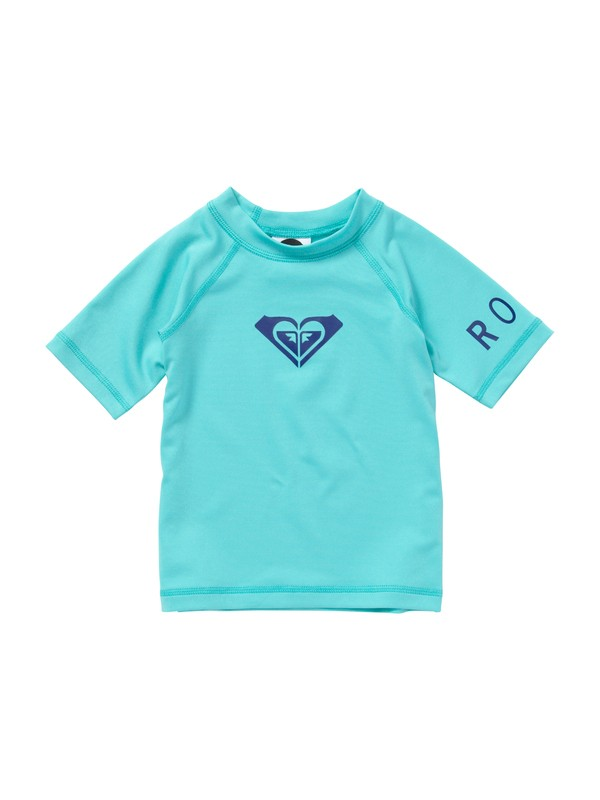0 Girls 2-6 Whole Hearted Toddler SS Rashguard  AROWR00000 Roxy