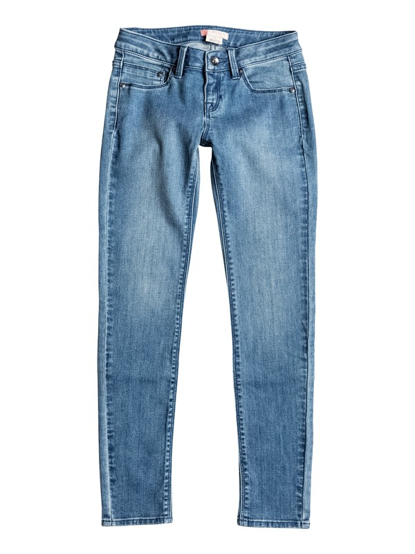 0 High And Wild - Slim Fit Jeans Blue ERGDP03027 Roxy