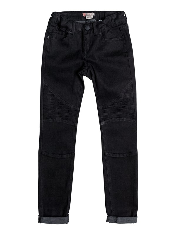 0 Enchanted Forest - Slim Fit Jeans Black ERGDP03036 Roxy