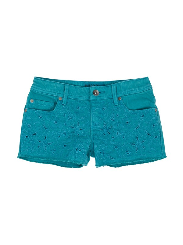 0 Girls 7-14 RG Lisy Eyelet Shorts  ERGDS00013 Roxy