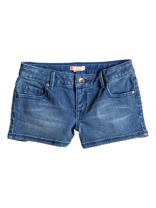 0 Girls 7-14 Shine Shine Like Sun Denim Shorts  ERGDS03025 Roxy