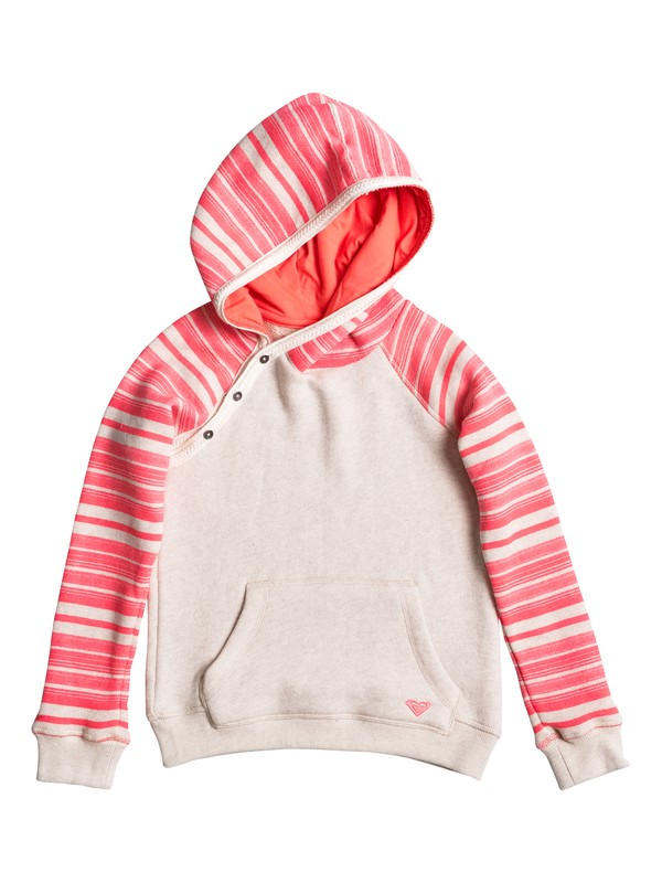 0 Girls 7-14 Close To You Lola Stripe Pullover Hoodie  ERGFT03201 Roxy