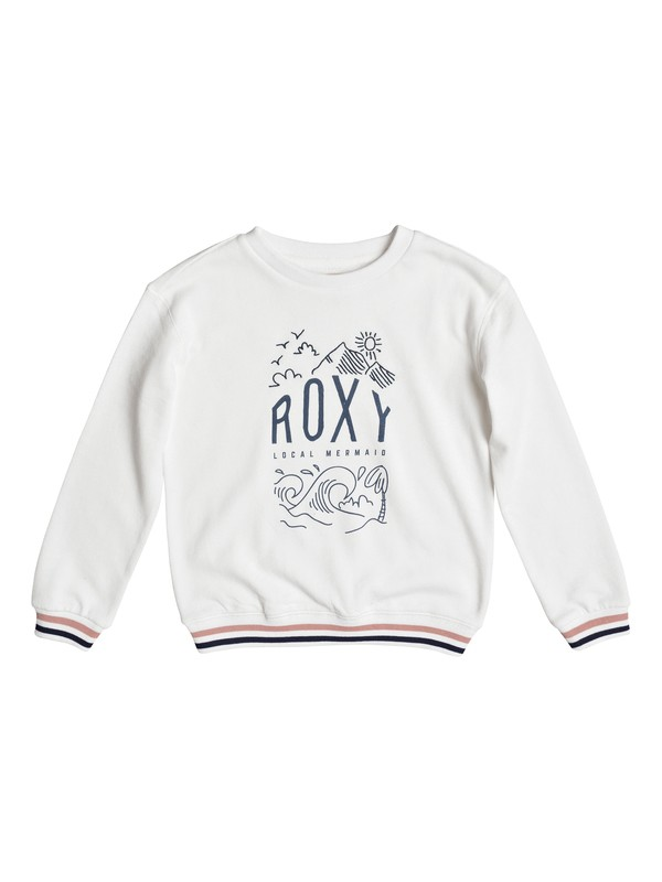 0 Shine All Day Night Surf - Sweat Blanc ERGFT03262 Roxy