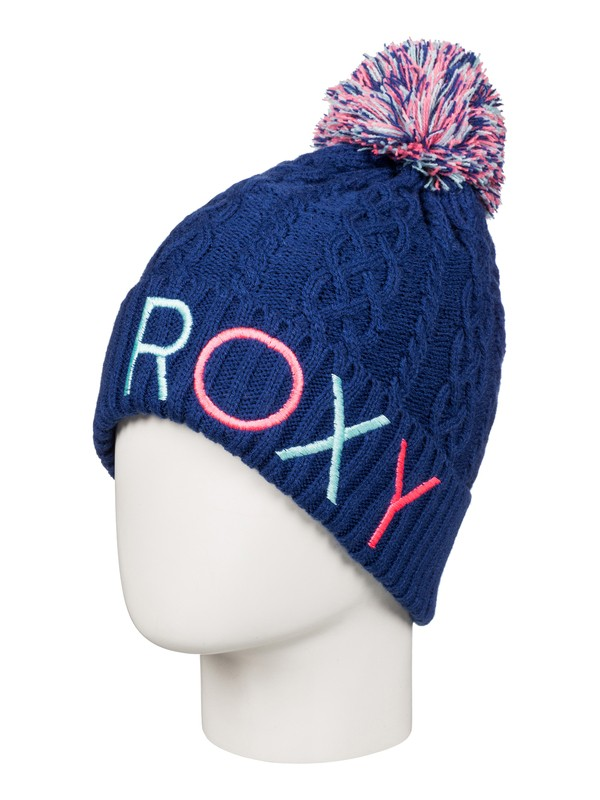 0 Girls 7-14  Baylee Beanie Blue ERGHA03035 Roxy