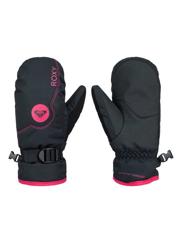 0 Girl's 7-14 Jetty Solid Snowboard Mittens  ERGHN03002 Roxy