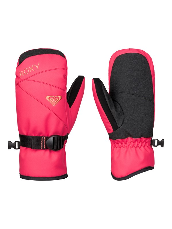0 Girls 7-14 ROXY Jetty Solid Snow Mittens  ERGHN03006 Roxy