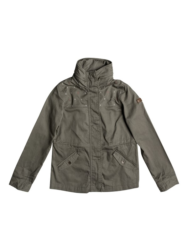 0 White Sash - Hooded Military Jacket  ERGJK03040 Roxy