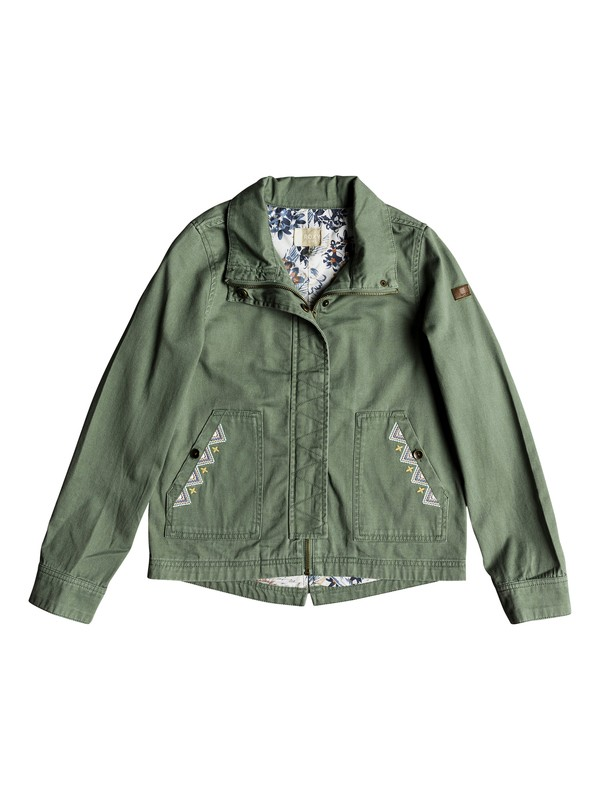 0 Falling Stars - Military Jacket Green ERGJK03048 Roxy