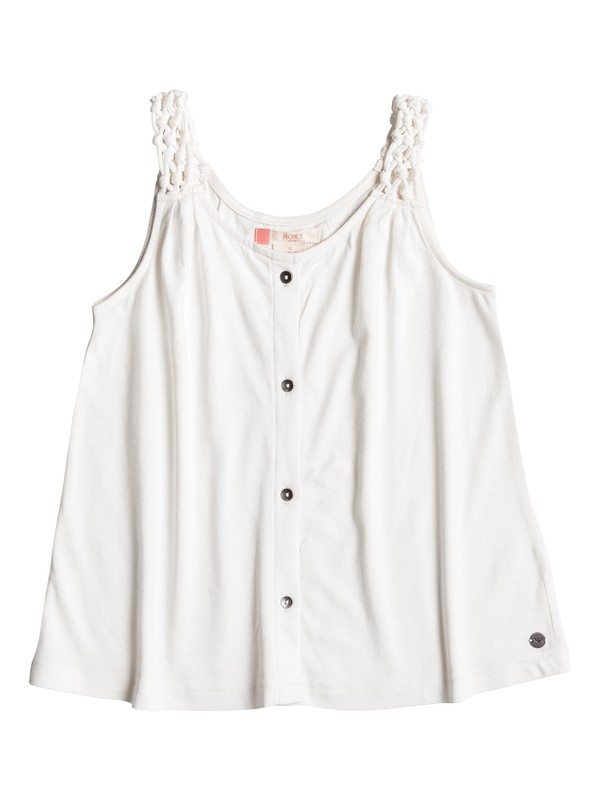 0 Girls 7-14 Pictures Of U Strappy Top White ERGKT03053 Roxy