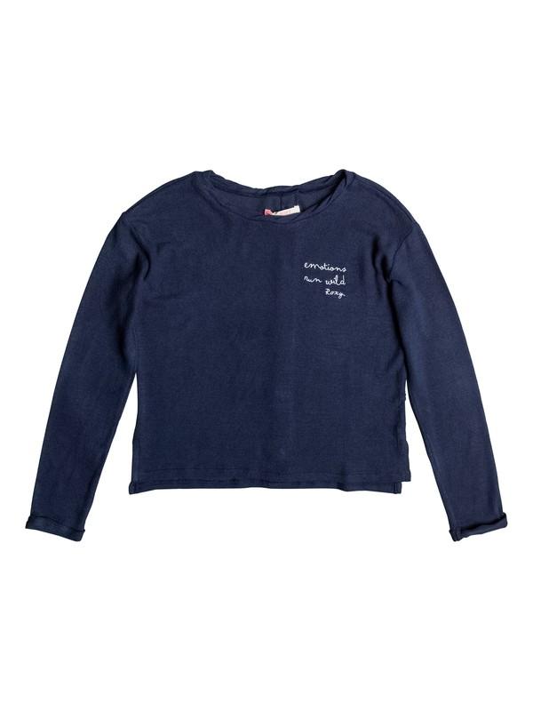 0 Predicting Happiness - Camisola de manga larga abotonada a la espalda Azul ERGKT03062 Roxy