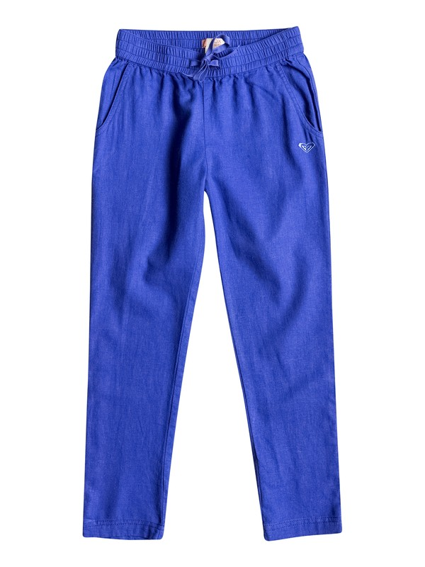 0 Girls 7-14 Can't Sleep At Night Linen Pants  ERGNP03011 Roxy