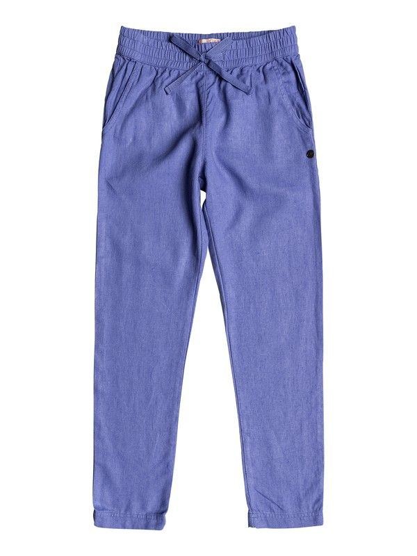 0 Girls 7-14 Friendly People Linen Pants Purple ERGNP03013 Roxy