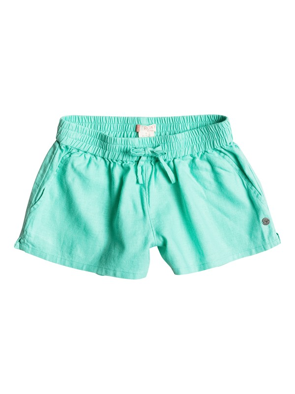 0 Girls 7-14 Color Into Eyes Beach Shorts Green ERGNS03012 Roxy