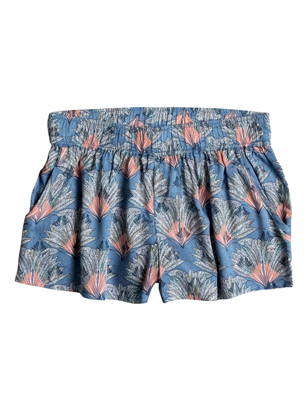0 Girls 7-14 Something I Will Believe Beach Shorts Blue ERGNS03013 Roxy
