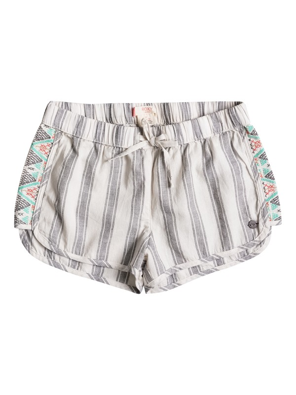 0 Girls 7-14 Eyes Storm Striped Beach Shorts  ERGNS03015 Roxy