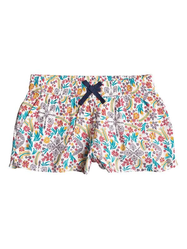 0 Girls 7-14 Enchanted Melody Beach Shorts White ERGNS03020 Roxy