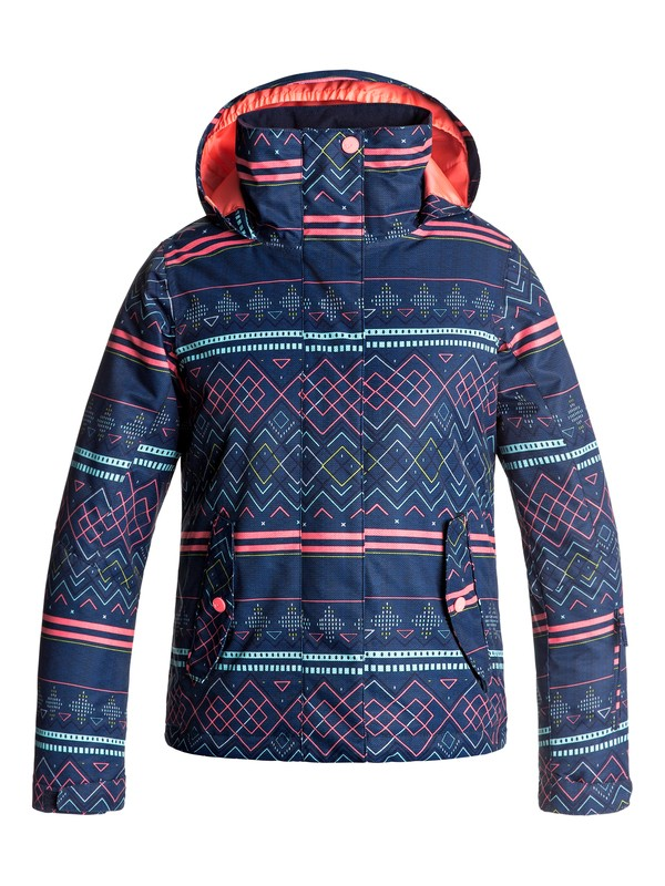0 Girls 7-14 ROXY Jetty Snow Jacket Blue ERGTJ03033 Roxy