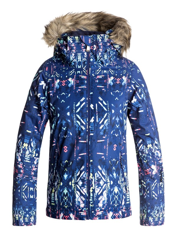 0 Girls 7-14 American Pie Snow Jacket Blue ERGTJ03037 Roxy