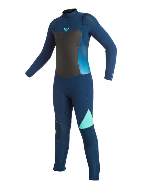 0 Girl's 7-14 Syncro 4/3mm Back Zip Full Wetsuit  ERGW103002 Roxy