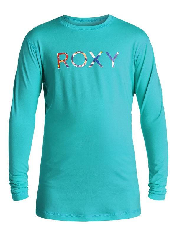 0 Palms Away - Rash vest a maniche lunghe Blue ERGWR03005 Roxy