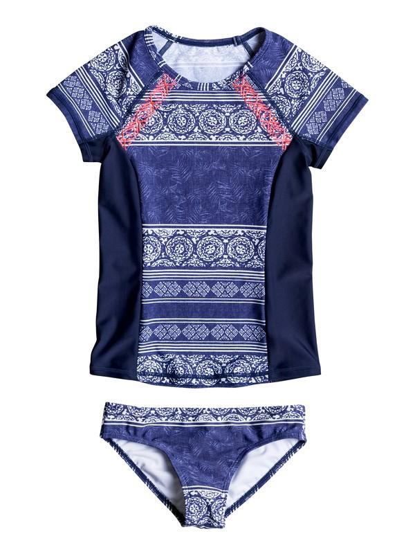 0 Girls 7-14 Pop Neon Short Sleeve Rashguard Set  ERGWR03034 Roxy